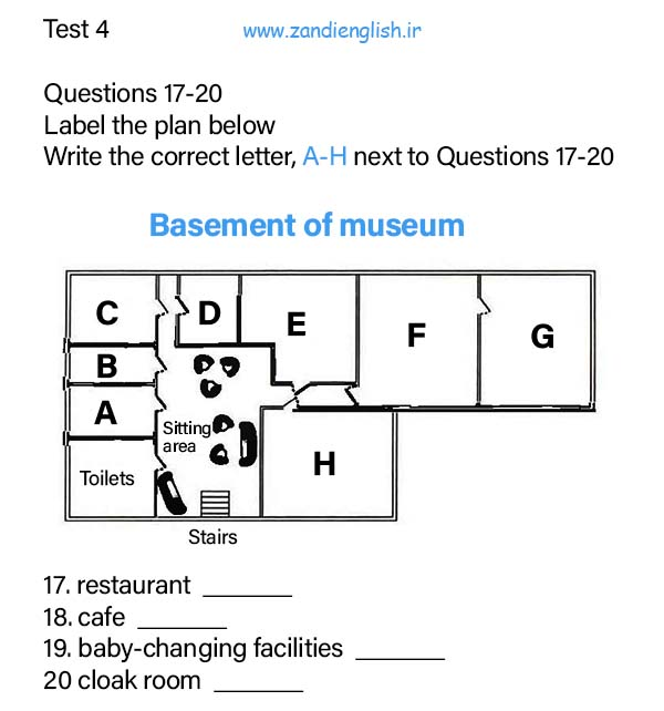 نمونه سوال map لیسنینگ
